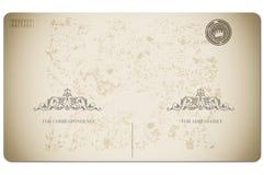 古色古香的可收帐的邮件对象明信片相关葡萄酒 库存照片