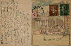 古色古香的可收帐的邮件对象明信片相关葡萄酒 免版税图库摄影