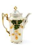 古色古香的咖啡罐做了瓷艺术Nouveau 免版税库存照片
