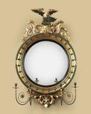 古色古香的圆的大厅镜子 免版税库存照片