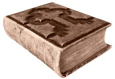 古色古香的圣经 图库摄影