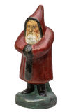 古色古香的圣诞老人小雕象 免版税库存图片