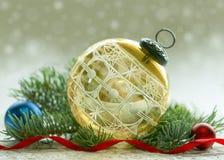 古色古香的圣诞节装饰品 库存图片