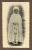 古色古香的圣餐第一张原始照片 免版税库存照片