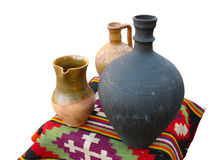 古色古香的地毯黏土手工制造老超出&# 免版税库存照片
