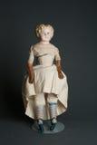 古色古香的地道老素瓷玩偶 库存照片