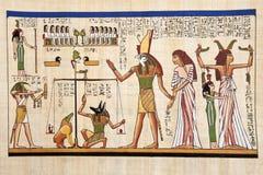 古色古香的埃及纸莎草 库存图片