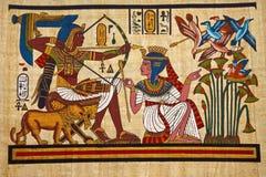 古色古香的埃及纸莎草 免版税库存图片