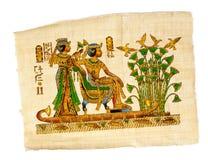 古色古香的埃及象形文字纸莎草 免版税库存照片