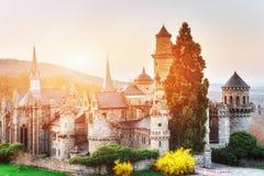 古色古香的城堡的看法在阳光下 图库摄影
