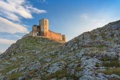 古色古香的堡垒废墟 Enisala 免版税图库摄影