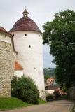 古色古香的塔,街道视图,古镇 免版税库存图片