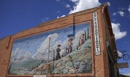 古色古香的墙壁壁画广告 免版税库存照片