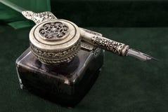 古色古香的墨水纤管 免版税图库摄影