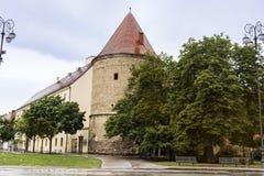 古色古香的大厦在萨格勒布,克罗地亚 库存照片