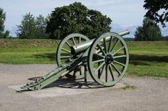 古色古香的大炮在Lappeenranta 图库摄影