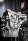 古色古香的大理石柱 免版税库存图片