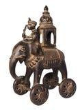 古色古香的大象印地安人玩具 图库摄影