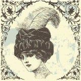 古色古香的夫人 免版税库存图片