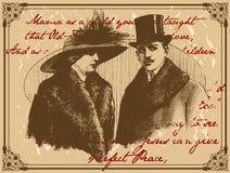 古色古香的夫妇 库存图片