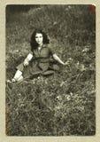 古色古香的女孩原始照片年轻人 库存图片