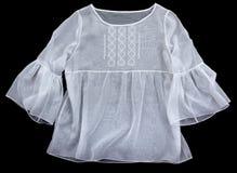 古色古香的女衬衫绣了s妇女 图库摄影