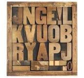 古色古香的字母表符号 免版税库存照片