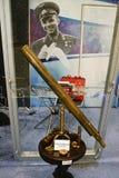 古色古香的宇航员第一台加加林望远&# 免版税图库摄影