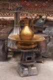 古色古香的家庭厨房辅助部件 东方传统纪念品 免版税图库摄影