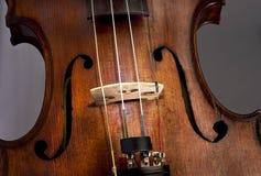 古色古香的小提琴 库存图片