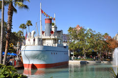 古色古香的小船迪斯尼好莱坞工作室 免版税库存照片