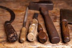 古色古香的工具 免版税图库摄影