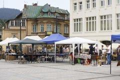 古色古香的市场在扎科帕内 免版税库存图片