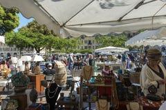 古色古香的市场浏览器Place du Palais de正义 免版税库存图片