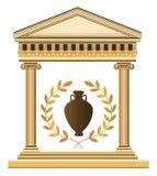 古色古香的希腊寺庙 免版税库存照片