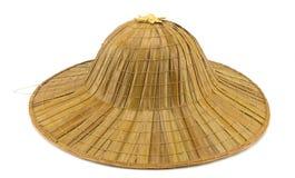古色古香的帽子秸杆 库存图片