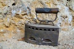 古色古香的平面的铁 库存照片