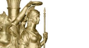 古色古香的战士妇女 库存图片