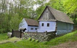古色古香的房子在锡比乌罗马尼亚 免版税库存照片