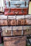 古色古香的手提箱 库存照片
