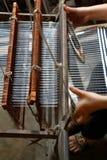 古色古香的手织机 免版税图库摄影
