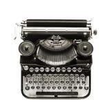 古色古香的打字机一个白色背景 免版税库存照片