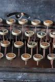 古色古香的打字机关键字 免版税库存图片