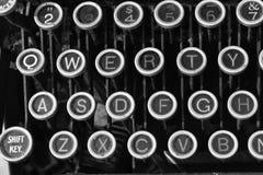 古色古香的打字机打字机键盘IX 免版税库存图片