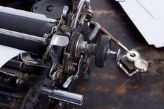 古色古香的打字机葡萄酒过滤器 免版税库存照片