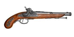 古色古香的打火石手枪 图库摄影