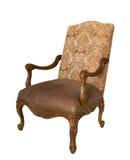 古色古香的扶手椅子查出的白色 免版税库存照片