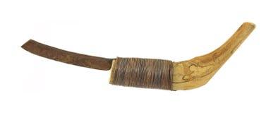 古色古香的把柄家使剃刀平直 免版税库存图片