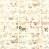 古色古香的报纸蝴蝶 库存图片