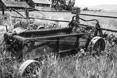古色古香的拖拉机在东华盛顿的Palouse地区 免版税库存照片